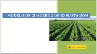 Modelo de  Cuaderno de Explotación del Ministerio de Agricultura