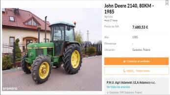 John Deere 2140 1985 7680 €